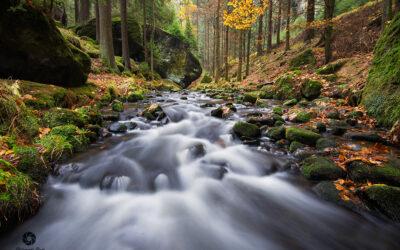 Focení vodopádů, potoků a říček
